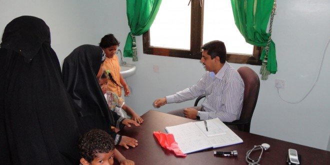 The coverage of the Medical Field Foundation for the IDP in schools in Dar saad Directorate.