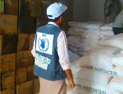 Receiving  Food Security Project food supplies in Lahj which targets 60,900 individual