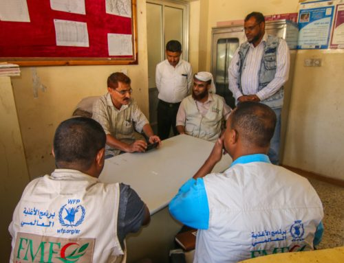 The supplementary feeding project funded by the World Food Program (WFP) meets the management of the Office of Public Health and Population Directorate of Maqatira, Lahj Governorate.